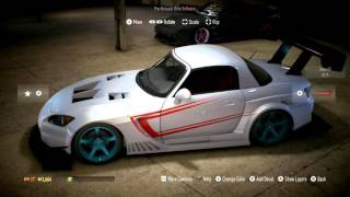NEED FOR SPEED (2015) Honda s2000 Bodykit Customization / Tuning Drift HD PS4/XBOX ONE/ PC