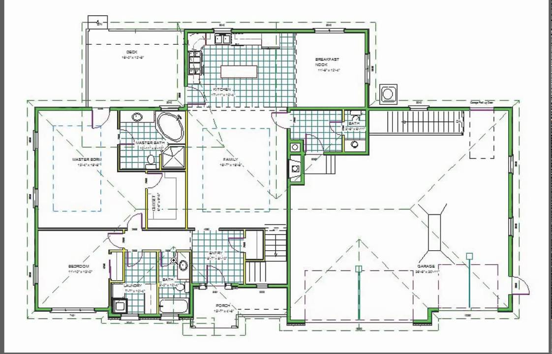 H110 Ranch House Plans 1850 sq ft main 5 bedroom 4 bath in b - YouTube
