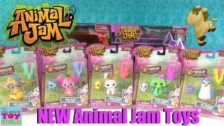 Animal Jam NEW Toy Figure Packs Opening | Monkey Bunny Racoon & More | PSToyReviews