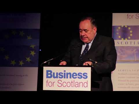 Alex Salmond BfS Keynote video: Scotland to join EFTA to avoid Brexit pain
