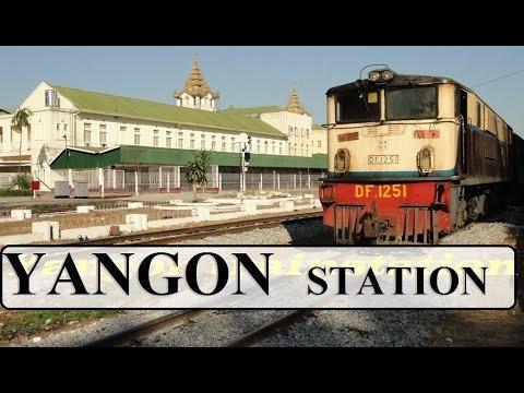 Myanmar/Yangon Royal Lake &Trainstation HD  Part 5