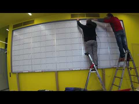 Fastest LED Lightbox installation | Signage Multi Profile GmbH