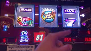 Wild & Crazy Slot Machine $1 Denom - High Limit Slot Play