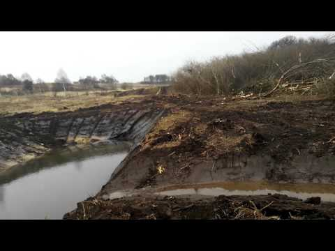 Как выкопать пруд экскаватором,детальная инструкция! youtube 2016