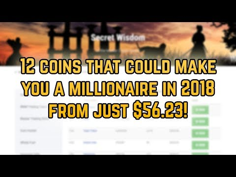 How to turn $56.23 into $1million dollars with cryptocurrency 2018