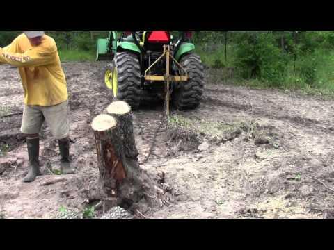 John Deere Tractor Tree Take Down