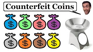 Counterfeit Coins - Brain Teaser