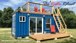 Rustic Retreat Tiny Home By Backcountry Containers- Houston,tx