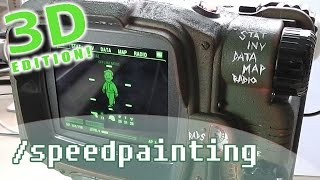 [Speedpaint] Pip-Boy (3D Edition!)