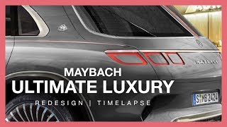 2020 Mercedes Maybach Ultimate Luxury SUV Redesign (Photoshop Render Timelapse)