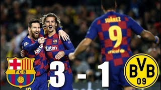 Download the onefootball app here - http://tinyurl.com/y4lyh4ca barcelona sealed their place at top of group f with an impressive win over borussia dortm...