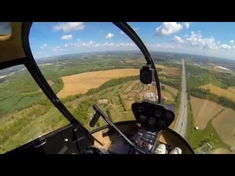 GoPro: R22 Helicopter Add-On Flight #23, Time-building XC Part I KJWN-KBWG + ...