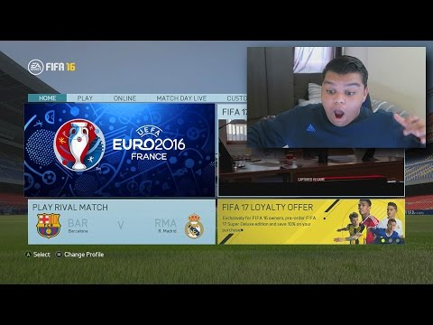 BRAND NEW EURO 2016 FIFA GAME MODE!!