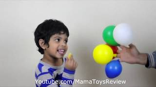 Funny Toddler Learn Colors with balloon Finger Family Song For Children