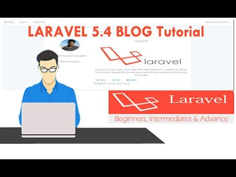 Laravel 5.4 Blog Tutorial Part-7 - Creating User Profile and Upload Profile Image