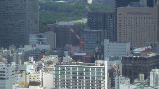 NTT都市開発 新橋一丁目プロジェクトの建設状況(2017年9月9日)