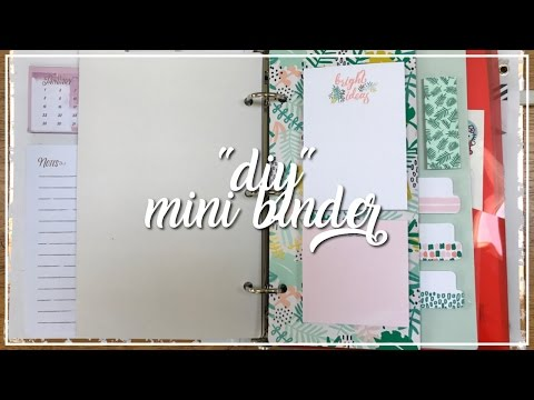 """diy"" mini binder"
