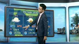 VTC14   Thời tiết biển 08/12/2017  Bắc biển Đông gió giật cấp 9