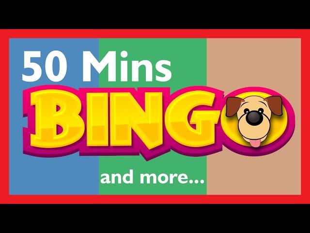 BINGO RHYMES for CHILDREN Kids Hut | 50 Minutes | Bingo Dog Song