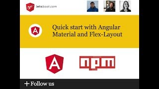 Quick start with Angular Material and Flex-Layout