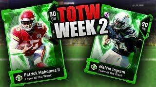 NEW TOTW PATRICK MAHOMES & MELVIN INGRAM | Madden 19 Team Of The Week Week 2