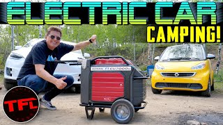 Can You Charge a Tesla While Camping?
