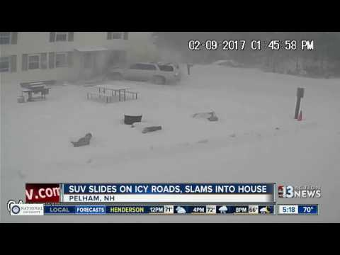 SUV slams into home in New Hampshire