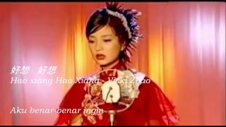 [Indo sub] HAO XIANG HAO XIANG 好想好想 lyric with Hanyu pinyin