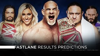 wwe fastlane 2017 results predictions