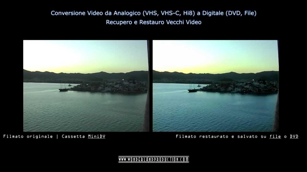 Conversione Video Da Analogico Vhs Vhs C Hi8 A Digitale Dvd