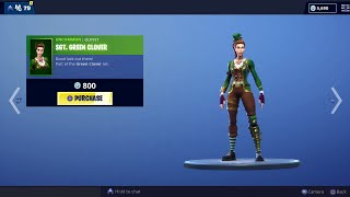 Fortnite Item Shop SGT. GREEN CLOVER Set Returns! New LUCKY RIDER Skin. (March 16)