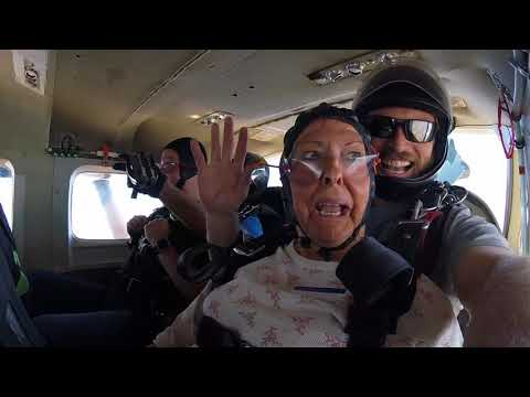Senior citizen mother jumps out of an airplane, puts adult kids to shame for staying on the ground