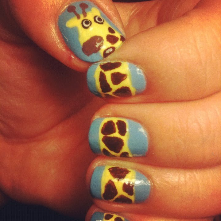 Nail Art On Youtube: Cute Giraffe Nail Art