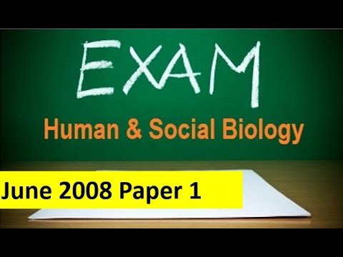 CSEC Human Social Biology Multiple Choice Paper 1 Q1 20