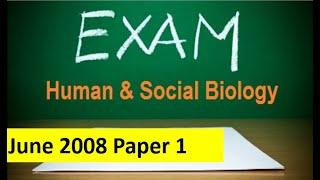 CSEC Human & Social Biology  Multiple Choice Paper 1 (Q1-20)