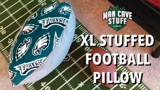 XL Man Cave Football | DIY Stuffed Pillow Idea