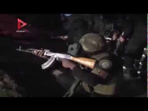 لحظة اقتحام قوات الأمن لوكر الإرهابيين  في قرية شركس بالقليوبية ...