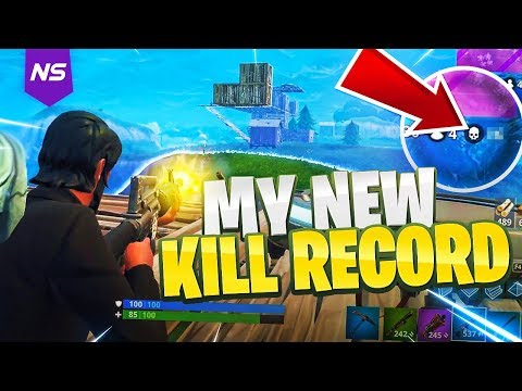 MY NEW PERSONAL BEST KILL RECORD ON FORTNITE! (INSANE GAMEPLAY)