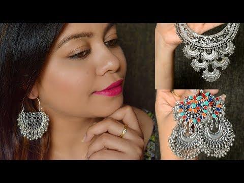 Jewellery Haul - Bought from Instagram Store | Malleshwaram || Nailzfashionista | Bangalore Youtuber