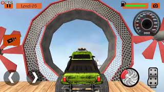 Impossible Monster 3D Truck Legends Stunts - 4x4 Big Car Games - Android gameplay FHD