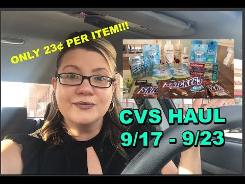 CVS HAUL FOR 9/17 - 9/23 | JUST 23¢ PER ITEM | COMPLETE DEAL BREAKDOWNS!