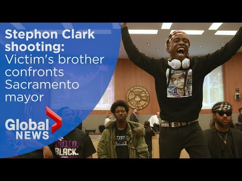 Sacramento police shooting: Stephon Clark's Brother disrupts
