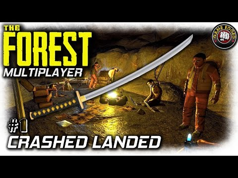 TheForest | Crash Landed, Katana First | EP1 Multiplayer| Let's Play The Forest Gameplay