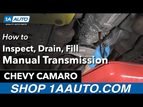 How to Check Manual Transmission Fluid 10-15 Chevy Camaro