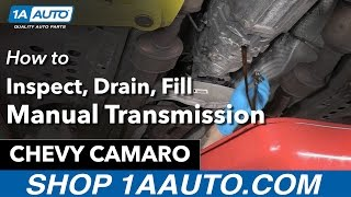 How to Inspect, Drain and Fill Manual Transmission Fluid 11 Chevy Camaro