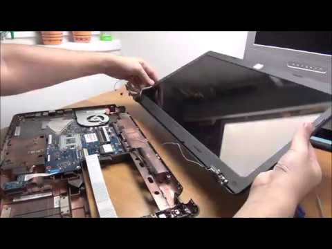Working on an ASUS K95V - disassembly, hinges repair and reassembly