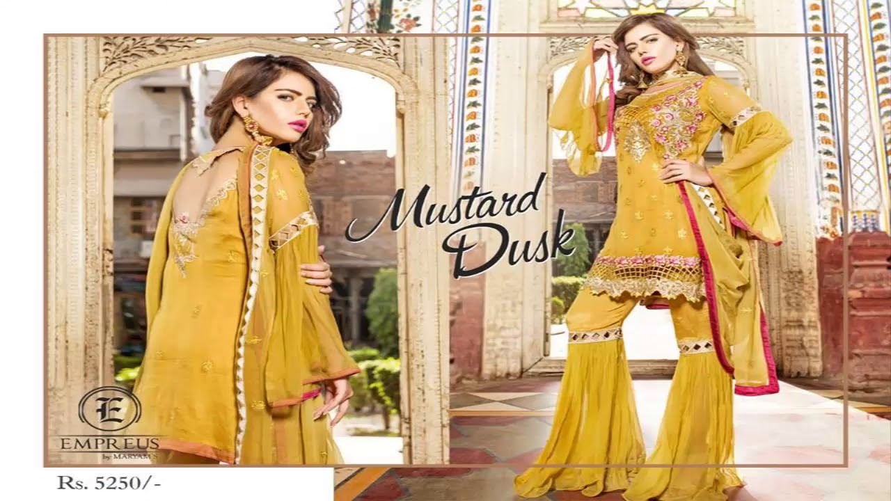 550af65f52 Maryam Empreus Luxury Chiffon Collection 2018 With Price Vol 3 - YouTube