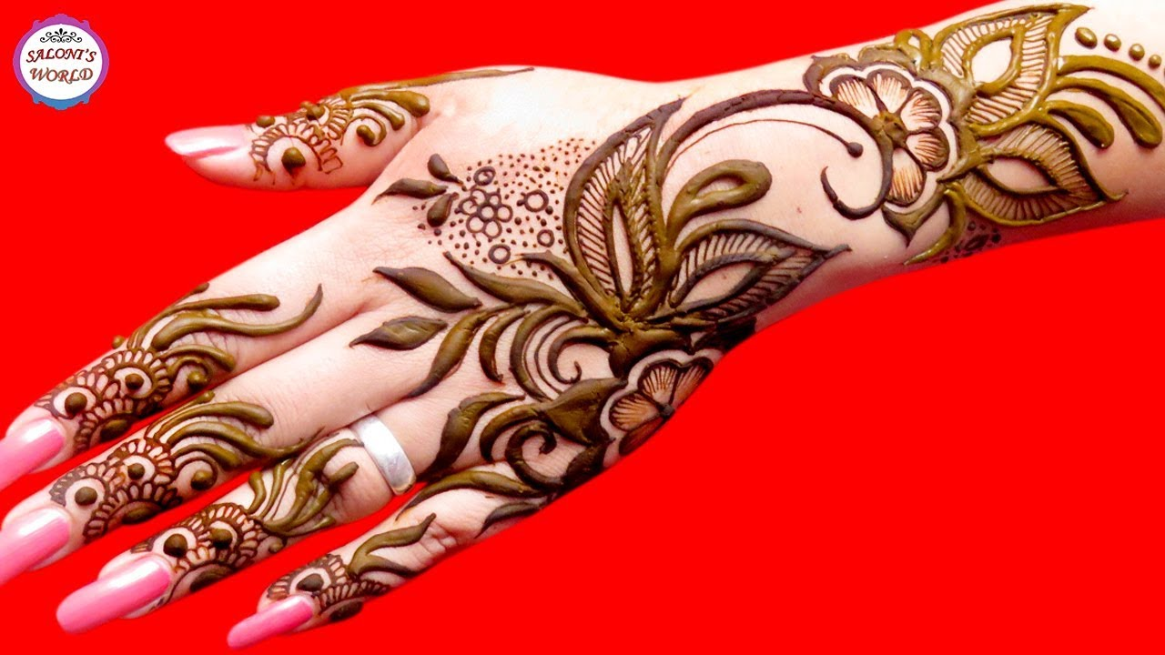 Latest 3d Arbi Mehndi Designs Easy Floral Mehndi Designs