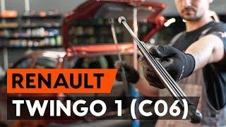 Hoe een gasveer achterklep vervangen op een RENAULT TWINGO 1 (C06) [AUTODOC-TUTORIAL]