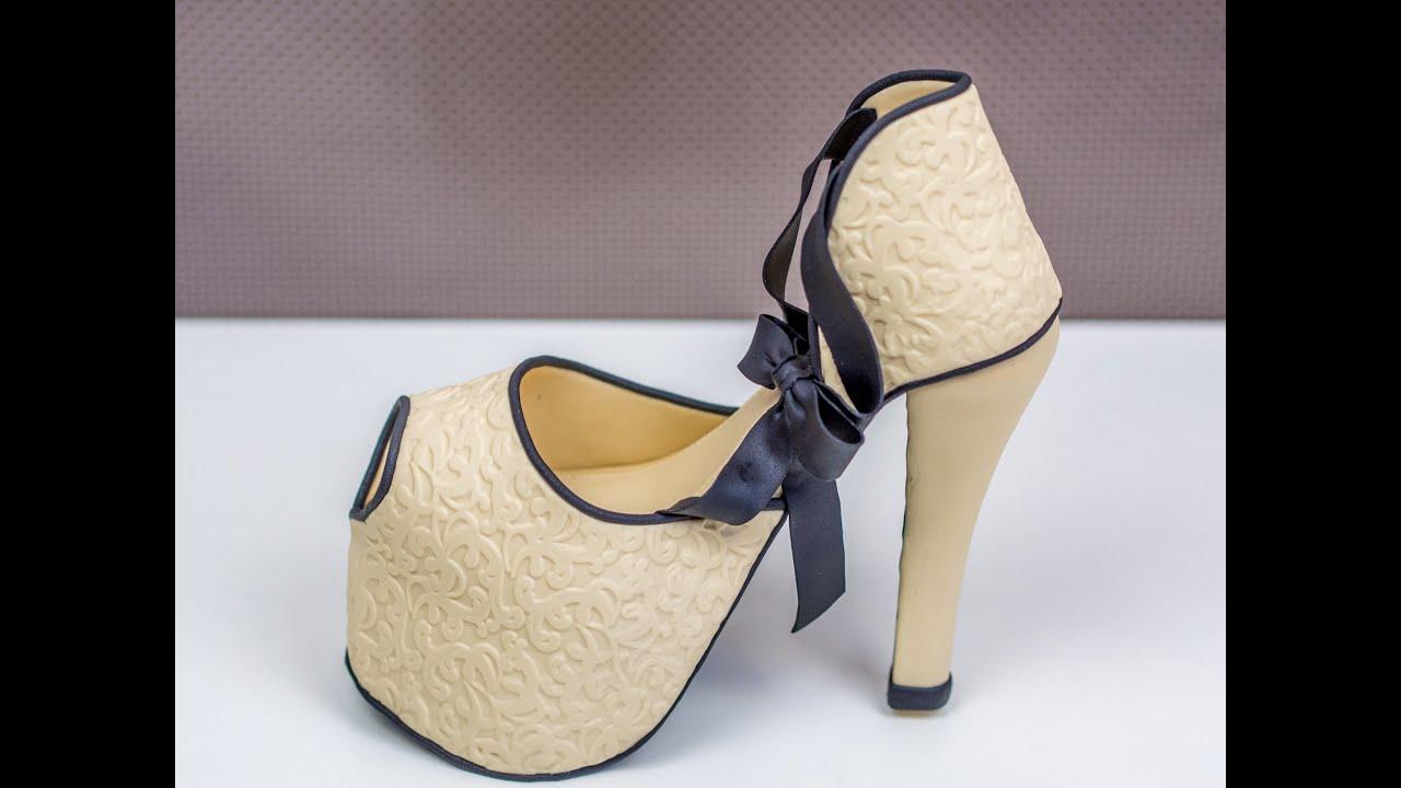Anleitung für einen Fondant High Heel. Modellieren von